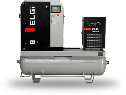 Rental elgi lubricated screw air compressor